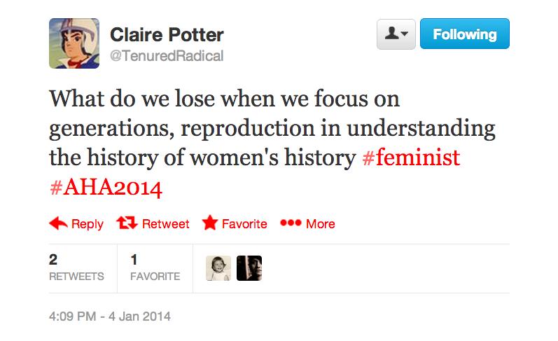 Generations of Womens History tweet