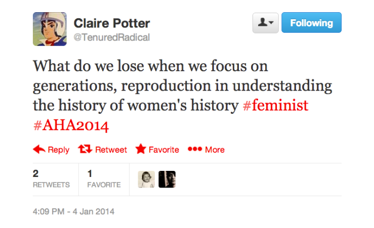 Generations of Womens History tweet