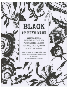 Black at Bryn Mawr poster by Grace Pusey.