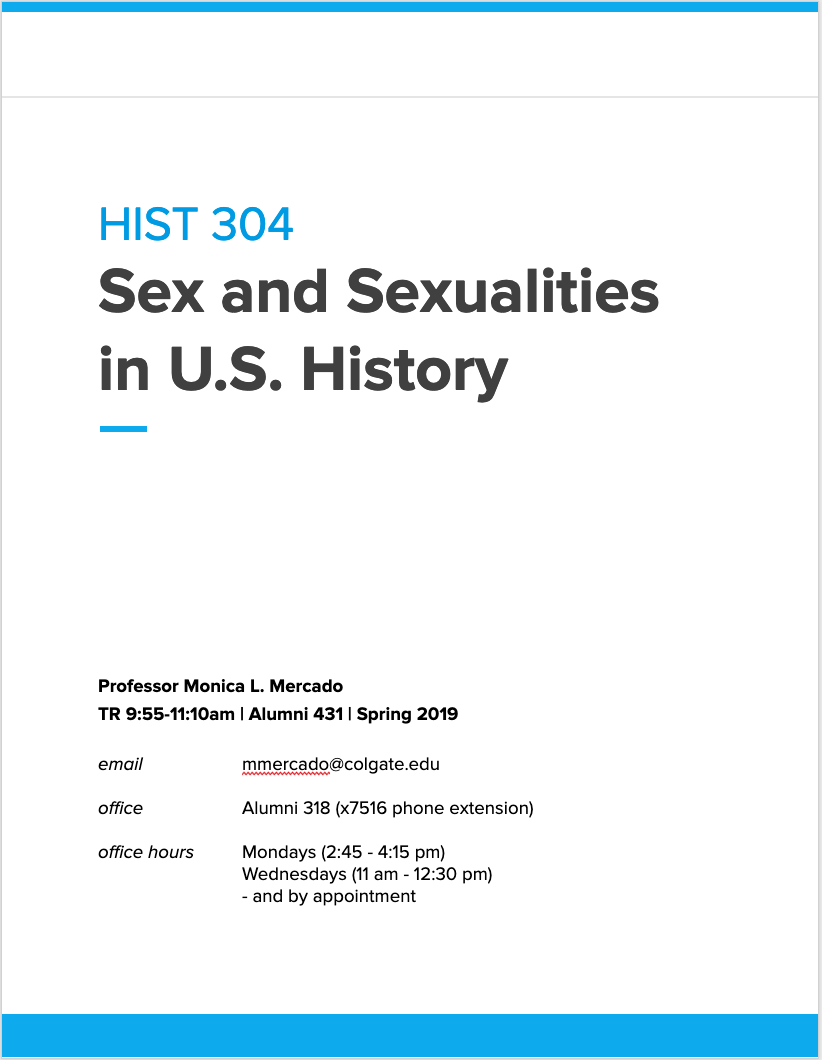 HIST 304 syllabus on Google Docs